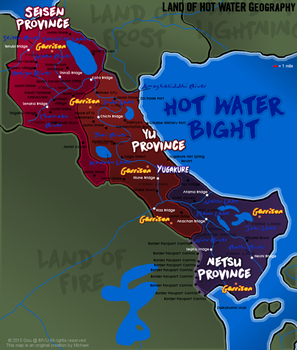 NARUTO MAP: Land of Hot Water / Land of Steam by Fire-Daimyo
