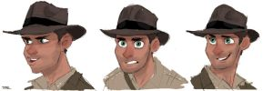 Indiana Jones sketches by DaveJorel