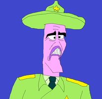 The Warden from SpongeBob SquarePants by matiriani28