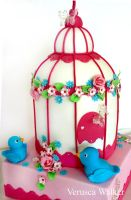 Bird Cage Cake by Verusca