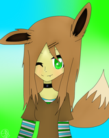 Human Eevee by SilverMelody13