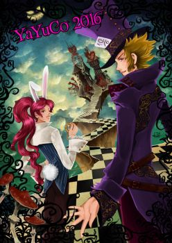 Hou and Chou in Wonderland by Fiorina-Artworks