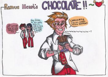 HP: Remus x Chocolate-coloured by elindor