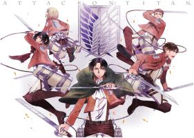 Attack on Titan by mimia1112