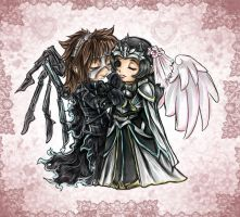 chibi kitsch: nero and argento by TwinSnake