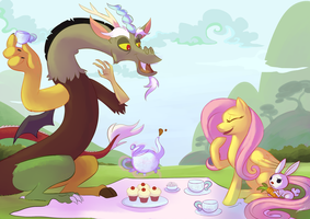 Discordant Teaparty by SketchprinterDemon