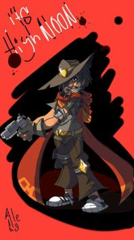 Jesse McCree- Art Trade With HUNTER ZHOU by chilica