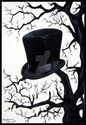 Top hat on a tree by MaggieBebbe