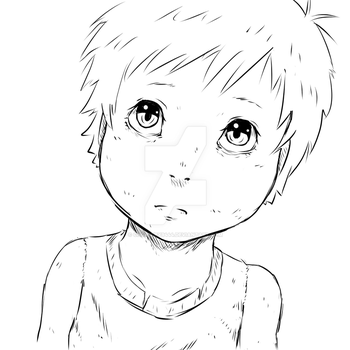 Sketch -10/3/2015 The Disheveled Child by Chopsuey9444