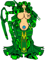 Sexy Nuclear Space Marine 01 by BluePhoenix012