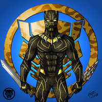 Black Panther: Killmonger (Golden Jaguar) by jonathanserrot