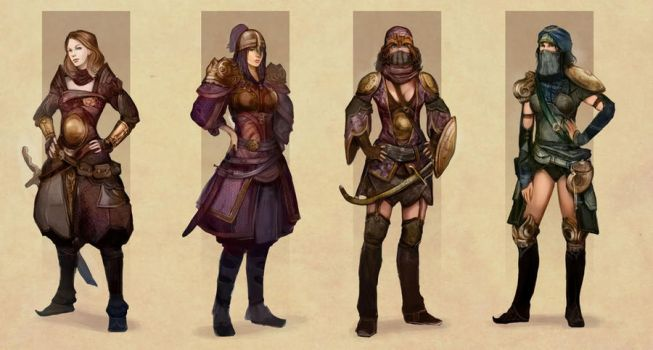 Eastern Armour designs by DrawingNightmare