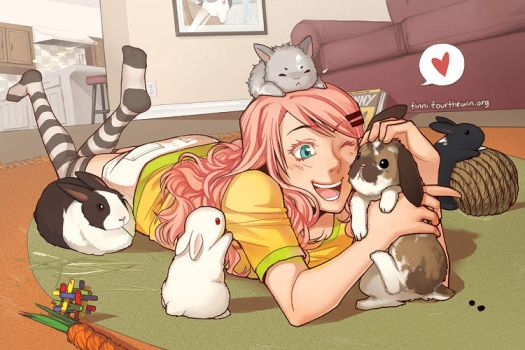 tons of BUNNIES by finni
