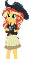 Cowgirl Sunset Shimmer by aqua-pony