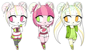 Ice Cream Adoptables by AdoptSonicCharacter