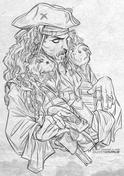 Patron Reward: Jack Sparrow and Guinea Pigs by Quarter-Virus
