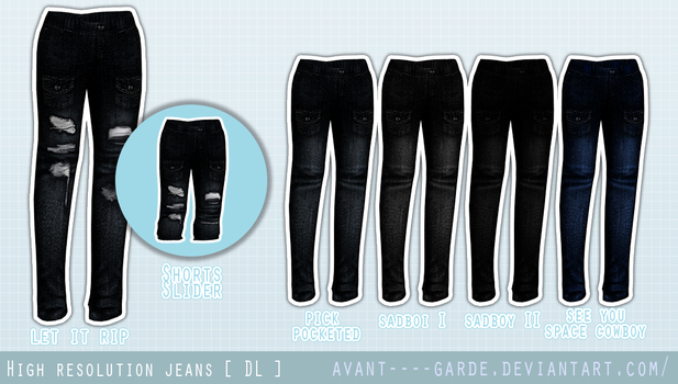 High Resolution Jeans [ Commission + DL ] by Avant-Garde3D