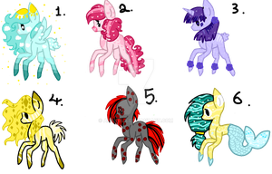 #3 Point Adoptables - Magical[OPEN] by AdaKola