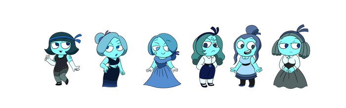 SU Adoptables - Aquamarines -OPEN- by JoTehDemonicPickle