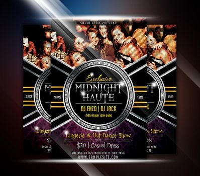 Midnight Haute Party Flyer by afizs
