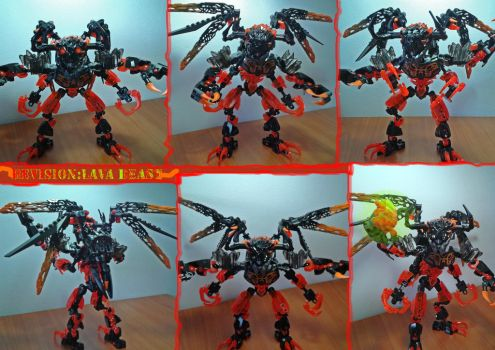Bionicle G2 Revision:Lava Beast by Trimondius01