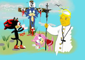 BIBLE SERIES- SONIC AND JOHN PAUL II by sanickfan2137
