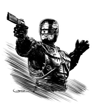 Robocop Inktober23 by Sgrum