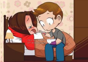 Paid Commission: Beware, it is hot (wincest) by KamiDiox