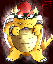 Bowser ready to a Fight by red13adv
