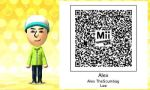 Tomodachi Life-Alex Mii QR Code by TheSucmbagLeeEverett