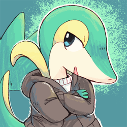 Snivy sona for BigDaddyDowney by Paleona