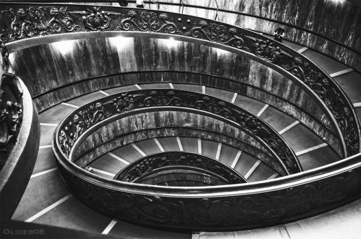 Rome - Spiral staircase by olideb08