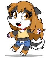 Day 24 - Chibi Doggy Star by SilviShinyStar