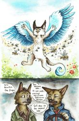 Castiel and the Bees  Furrys by kiriOkami