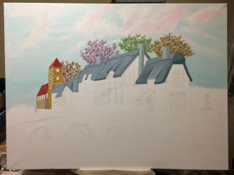 Houses and bridge WIP6 by dublodz