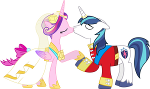 Princess Cadance and Shining Armour Kissing by 90Sigma