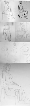 Life Drawing 2 by Salvathi