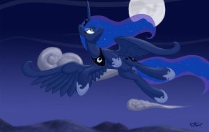 Out for a Moonlight Flight by lunarapologist