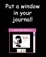 Window in your journal by RunaryKat