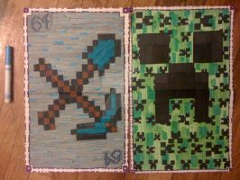 Finished Minecraft Cards by AnnyCerri