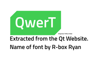 QwerT: QT fonts, Extracted. by R-Box-DA
