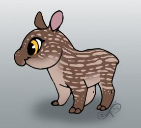 Baby Tapir by courtneydoodles