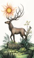 The Stag by Evanira