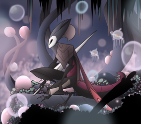Hollow Knight - Saga In Foggy Canyon by Electra-Draganvel