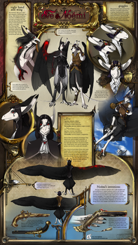 very fancy dual character sheet by WhiteRaven90