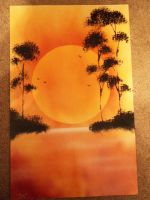 Tranquil Sunset (Spray Paint) by Kephazard