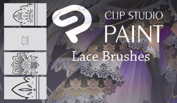 Clip Studio .:. Lace Brushes by Dea-89