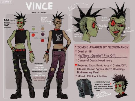 *UPDATED* VINCE REF SHEET by GLIBRIBS