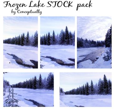 frozen lake STOCK pack by conceptually