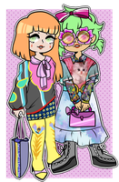 [OC]: Harajuku Gals by SimplyDefault